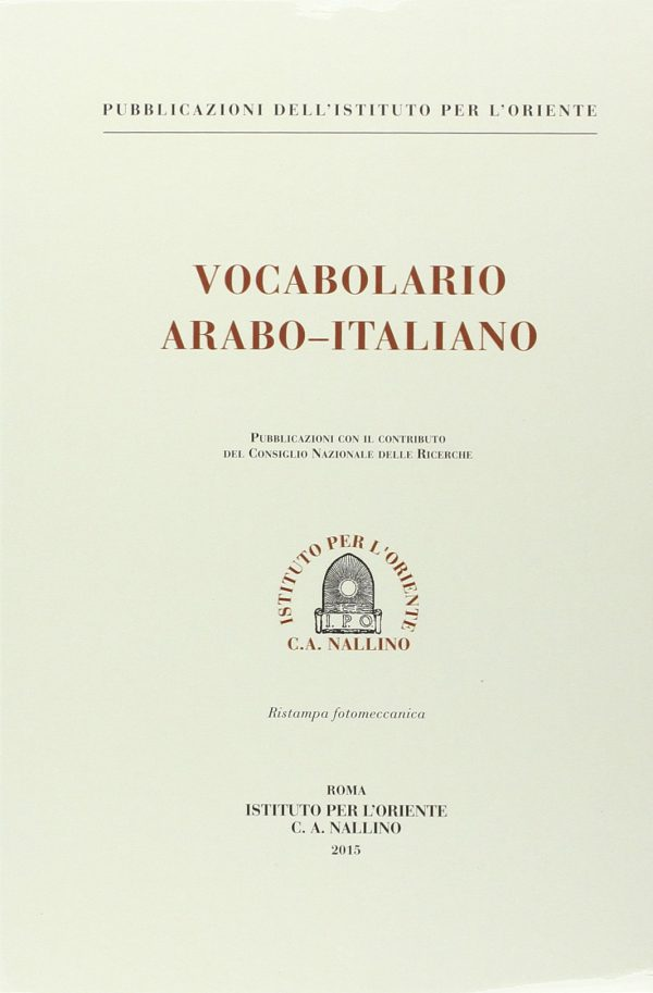 vocabolario arabo italiano traini