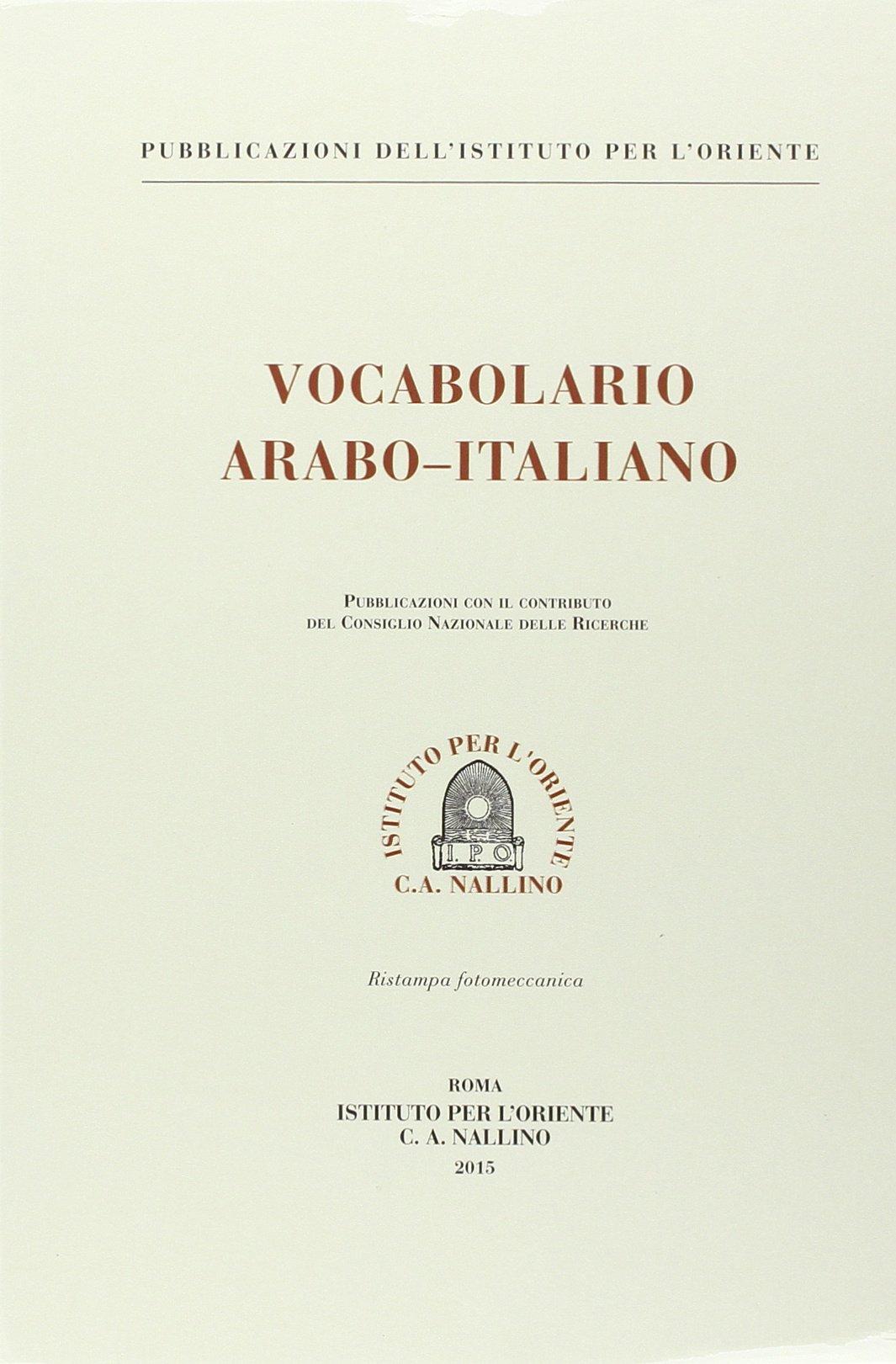 vocabolario arabo italiano traini