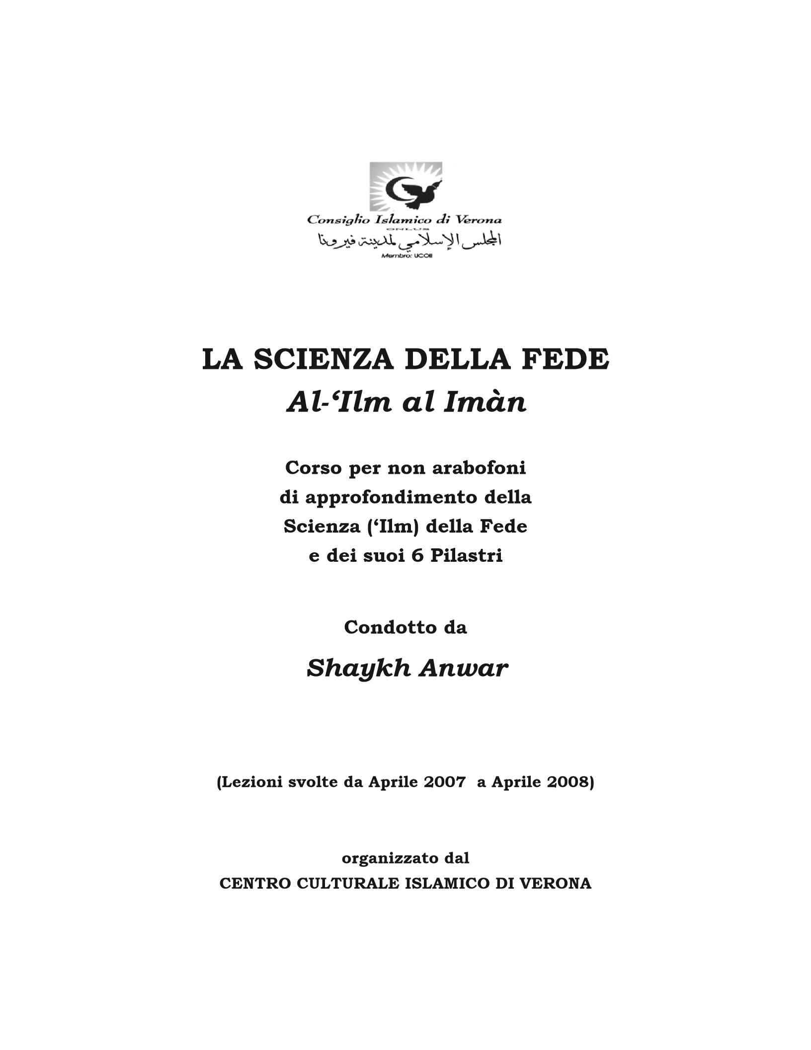 libro scienze della fede