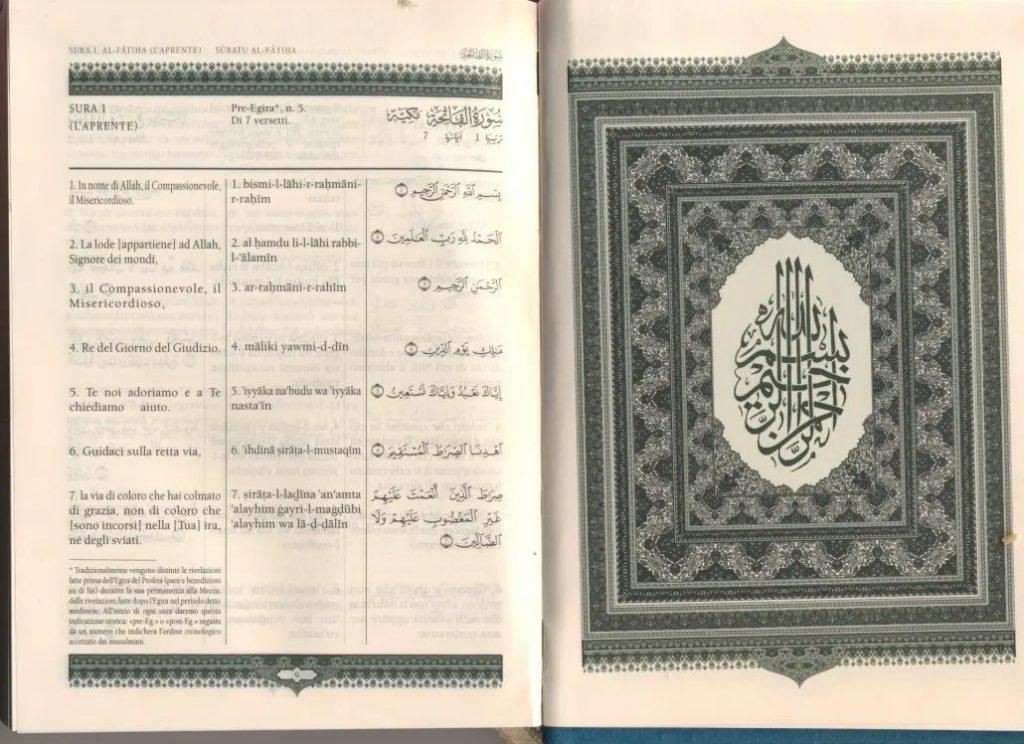 Corano Piccardo con Traslitterazione